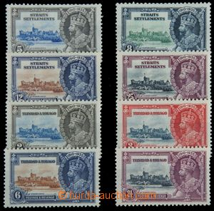 120018 - 1935 TRINIDAD AND TOBAGO  Mi.124-127 (239-242), MALAY STATES