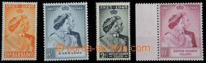 120412 - 1948-49 BARBADOS  Mi.178-179 (SG.265-266), BRITISH SOLOMON I