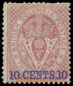 120423 - 1869 Mi.9C (SG.30), Přetisk 10C, perforace 14, kat. SG &#163