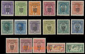 120763 -  Pof.RV1-16, 20-21, Pražský přetisk, malý znak, více nálepek