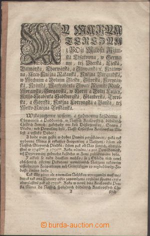 120925 - 1850 RAKOUSKO / MINCOVNÍ CIRKULÁŘ  v češtině upozorňující na