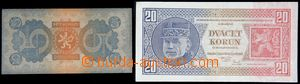 121072 - 1920-38 ČSR I. Ba.18, 21, sestava 2ks bankovek, kvalita 2/2