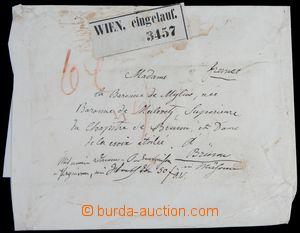 121431 - 1860 celý přebal malého balíčku s adresou, zaslaný vyp