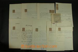 121638 - 1918-19 ČSR I.  sestava 10 listin s předběžnými a souběžnými
