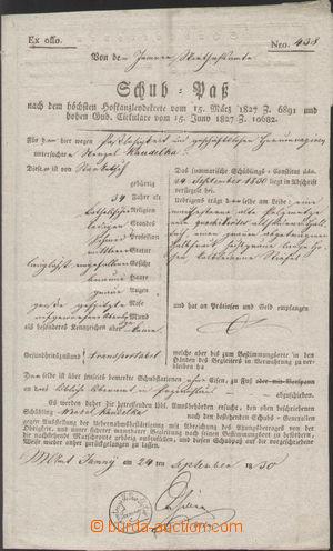 121804 - 1830 RAKOUSKO  předtištěný postrkový list, Václav Koudelka,