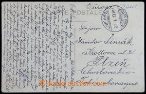 121998 - 1930 pohlednice zaslaná do ČSR, vyfr. na přední straně zn. M
