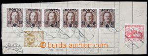 122206 - 1919 část formuláře se smíšenou frankaturou rakouských dopla
