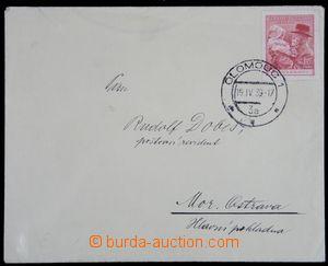 122372 - 1939 dopis vyfr. předběžnou zn. Pof.334, DR OLOMOUC 1/ 19.IV
