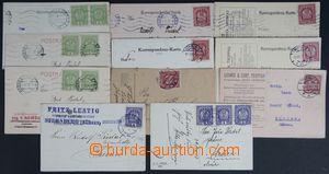 122581 - 1918-19 sestava 11ks firemních lístků vyfr. rakouskými zn.,