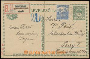 123558 - 1918 Mi.P56 I., dopisnice 8f Štěpánská koruna, zaslaná jako