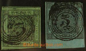 123779 - 1853-58 Mi.6, Číslice 3Kr zelná, super střih, s číslicovým r