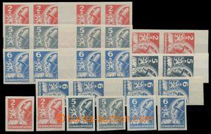 124431 -  Pof.354-356Mv+Ms(4), Košické vydání, 4-známková vodorovná a