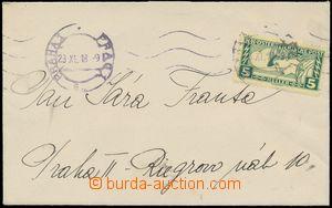 124597 - 1918 dopis zaslaný jako spěšný tiskopis, vyfr. předběžnou ra