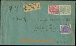 124614 - 1919 R-dopis se smíšenou frankaturou Hradčanských zn. 10h +