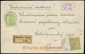 124731 - 1919 R-dopis vyfr. smíšenou frankaturou zn. Hradčany 5f, Pof