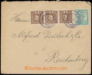 124766 - 1919 obyčejný těžší dopis vyplacený smíšenou frankaturou zn.