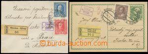 124852 - 1914-16 sestava 2ks R-celistvostí s razítky poštoven, 1x dop