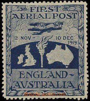 124936 - 1920 Mi.I (Yv.PA1), Ross-Smith, letecká nálepka 1. let Angli