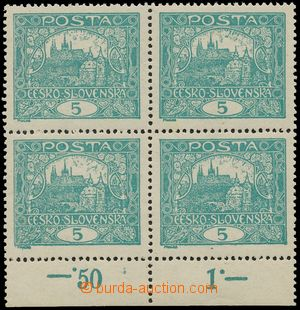125255 -  Pof.4A STs, 5h modrozelená, krajový 4-blok, HZ 13¾:13&