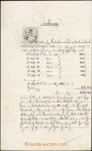 125340 - 1856 RAKOUSKO  kaligraficky psaná listina s nejvzácnějším ra