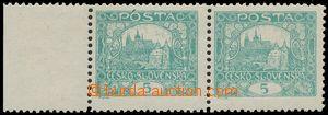 125395 -  Pof.4E STs, 5h modrozelená, krajová 2-páska, ŘZ 11½:10