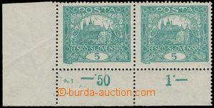 125402 -  Pof.4A STs, 5h modrozelená, rohová 2-páska, HZ 13¾:13&