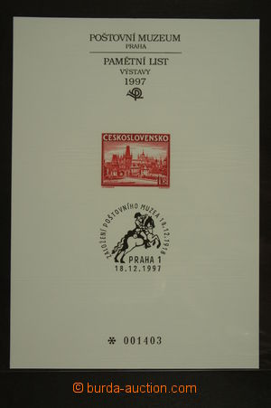 126367 - 1997 PTM10, 79. Anniv Postal museum in Prague, cat. 800CZK