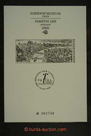 126373 - 2000 PTM15, Prague Capital of Culture; very fine, cat. 300CZ