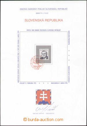 126743 - 1993 ZNL3, Sbírka na národní poklad, s podpisem prezidenta M