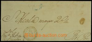 127512 - 1852 velký výstřižek z předznámkového dopisu z období španěl