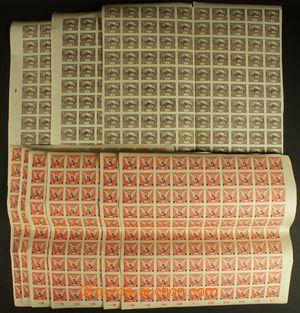 127605 -  Pof.1, NV10, sestava 22ks archů, 4x Hradčany 1h hnědá, 18x