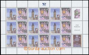 127708 - 2003 Pof.381, Lantern V125, blk-of-9, personalised stamp. Če