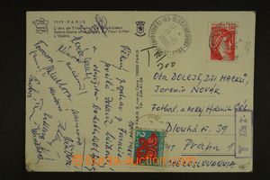 127780 - 1980 BASKETBALL  Sparta Prague, postcard from France with si