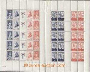 127802 - 1942-43 Mi.576-577, 581-584, sestava 2ks TL - Légion Tricolo