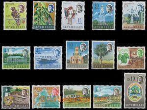 128773 - 1968 Mi.1-15, přetisk B.I.O.T., kat. 65€