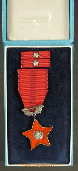 130261 - 1980 ČSR II.  Řád rudé hvězdy, II. vydání, včetně stužky a e