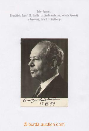 130368 - 1979 FRANZ JOSEPH II (1906–1989), lichtenštejnský kníže, ori