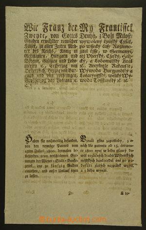 130474 - 1803 RAKOUSKO  cirkulář císaře Františka II., 4 str., česko-