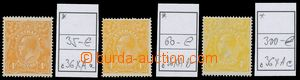 130789 - 1915 sestava 3ks barevných odstínů zn. Mi.36, Jiří V., Mi.36