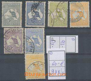 130847 - 1913 Mi.6 IX - 12 IIX + 9 IIXb, Klokan, neúplná série, celke