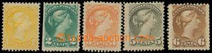 130875 - 1870 sestava 5ks klasických zn. s portrétem královny Viktori
