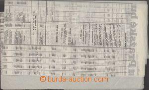 130882 - 1929 BURZA PRAHA  Úřední kurzovní list pražské burzy z 30. l