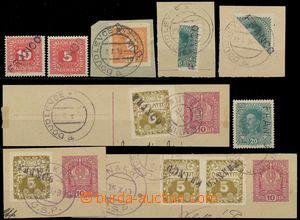 130928 - 1919 sestava 11ks zn. převážně na výstřižcích, přetisk FRANC