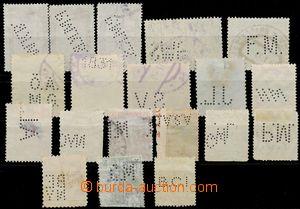 130973 - 1910-20 sestava 19ks známek s perfiny, mj. Německo a Itálie