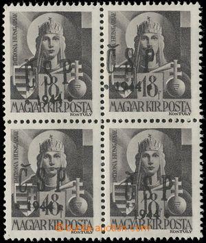 131121 - 1944 CHUST  Pof.RV183, Majer C10, výplatní 18f, 4-blok, 1ks