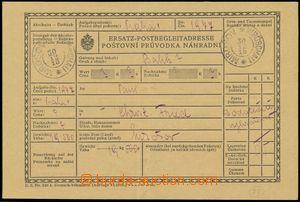 131343 - 1918 celá náhradní poštovní průvodka, DR MIROŠOV/ 30.12.18,