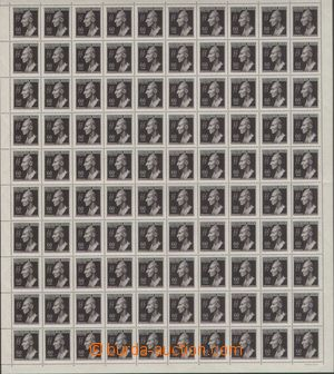 131452 - 1943 Pof.111, Heydrich, kompletní 100-zn. arch, vodorovně př