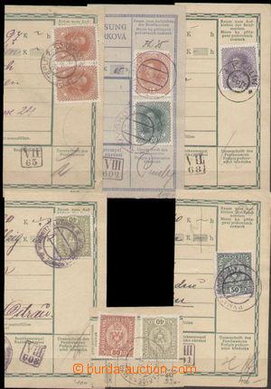 131464 - 1919 sestava 6ks ústřižků rakouských průvodek s různými soub