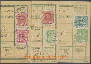 131466 - 1919 sestava 3ks ústřižků rakouských průvodek s různými smíš