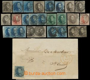 131853 - 1849-58 interesting selection of classic imperforated stmp.,